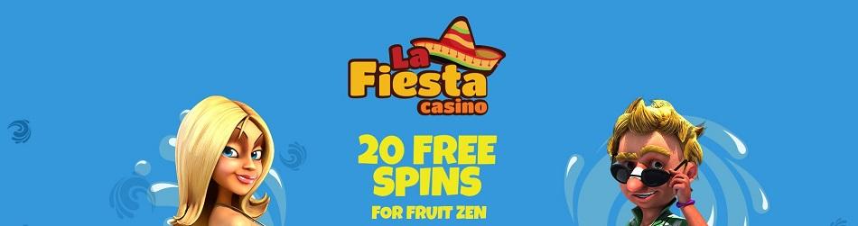 La Fiesta Online Casino 20 Free Spins on registration No Deposit Required bonus code