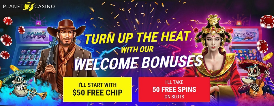 $50 No Deposit Casino Bonus or 50 Free Spins Planet 7 Casino Bonuses Codes