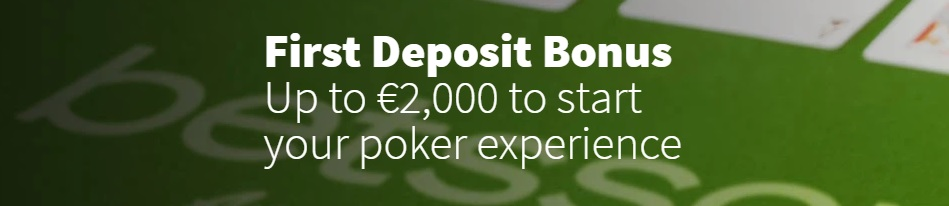 Betsson Online Poker first deposit bonus + client download