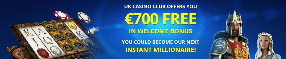UK Online Casino Club 700 Euro Free Bonus