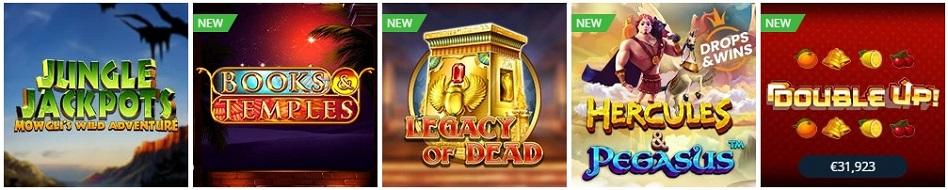 Betsson online casino slot games first deposit free bonus offer