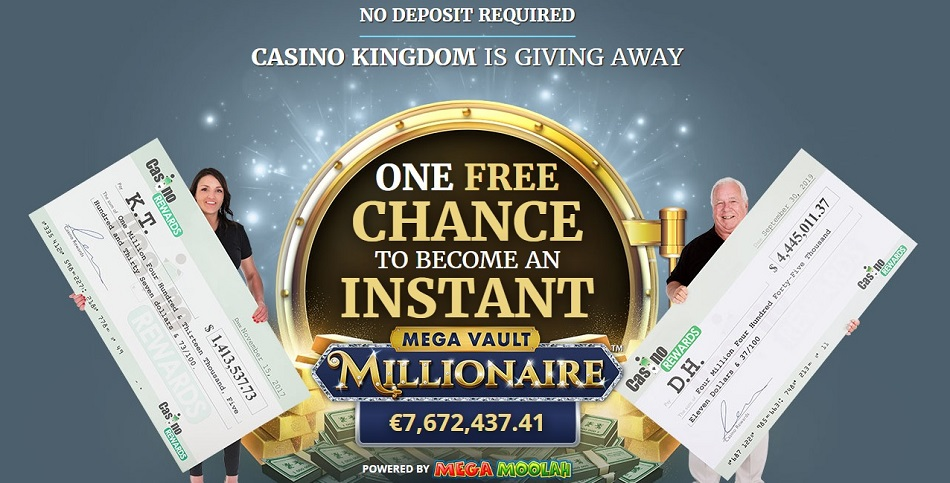 Free Chance (No Deposit Required Welcome Signup Bonus) to Win Real Money at CASINO KINGDOM