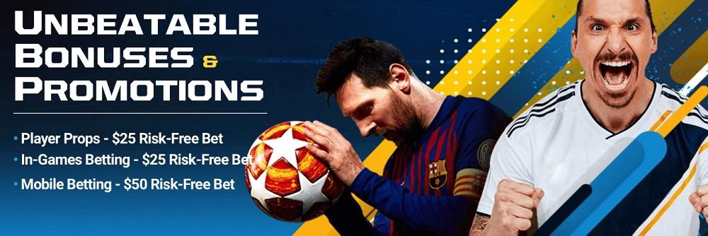 BetOnline Soccer Betting - 50% UP TO $,1000 SIGN UP BONUS! $50 Risk-Free Bet on Mobile!