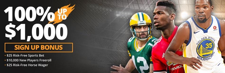 Tiger Gaming Sportsbook Sign Up Bonus - 100% UP TO $,1000! $25 Risk Free Bet!